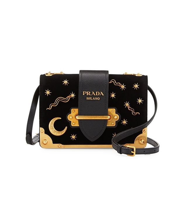 Prada Cahier Astrology Velvet Shoulder Bag