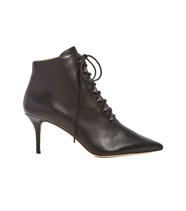 Pour La Victoire Vittoria Pointed Toe Lace Up Booties