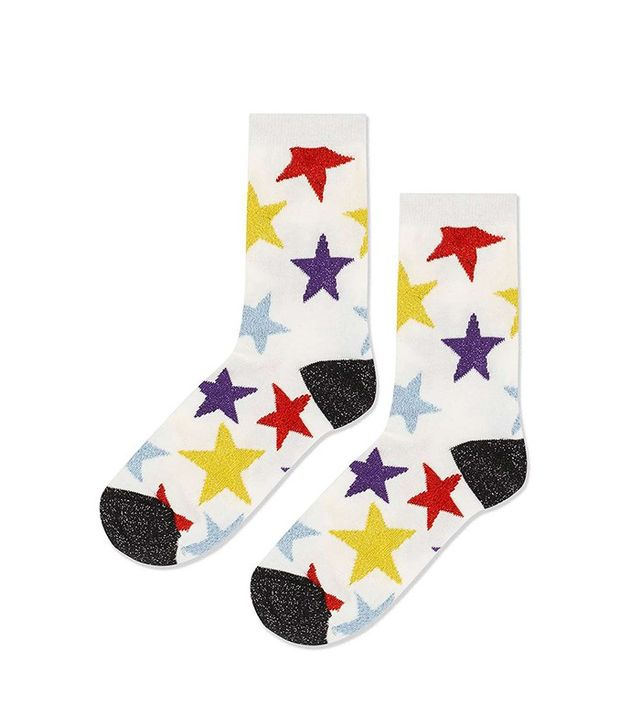 Topshop Glitter Star Ankle Socks