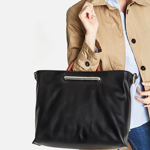 Tote With Metallic Handles