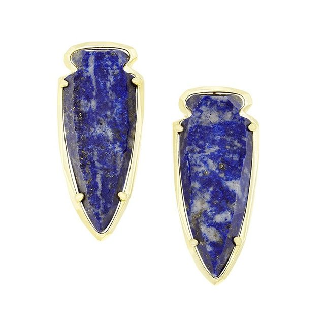 Kendra Scott Kathryn Earrings in Raw Cut Lapis