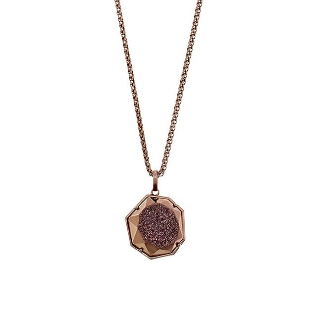 Kendra Scott Lizzie Necklace in Chocolate Window Drusy