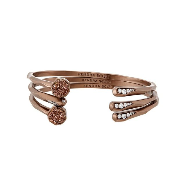 Kendra Scott Blake Bangle Bracelet Set in Chocolate Drusy