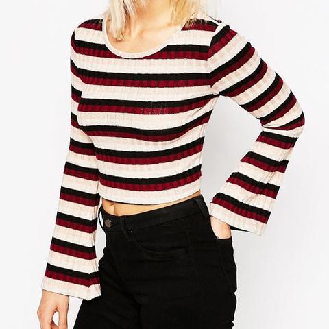 Himle Striped Crop Top
