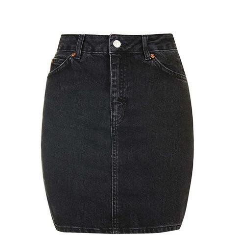 Moto High-Waisted Mini Skirt