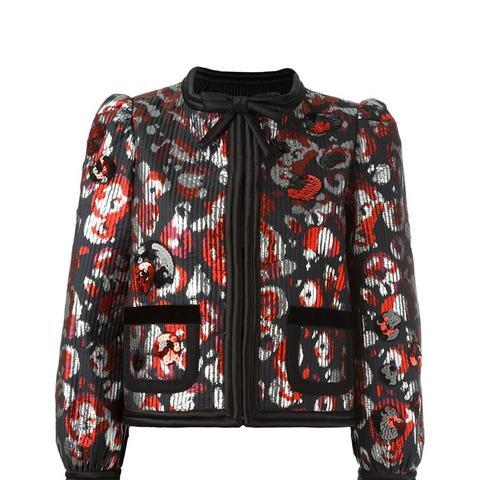 Warped Flower Sequin Jacket