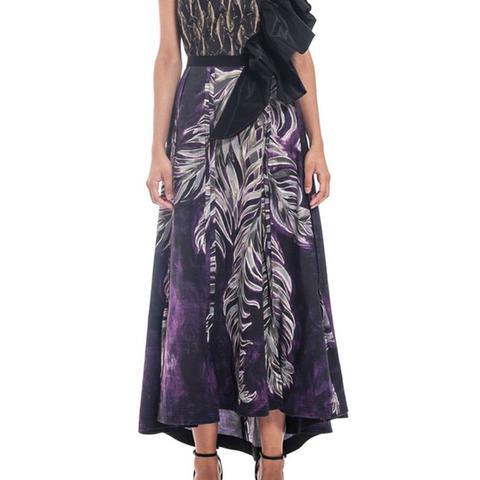 Edwardian Fern Print Skirt