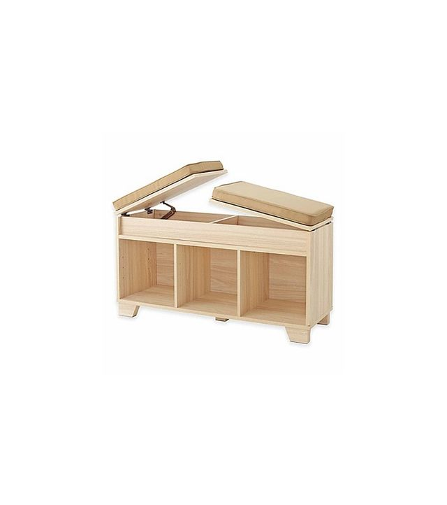 Real Simple 3-Cube Split-Top Bench Storage Unit