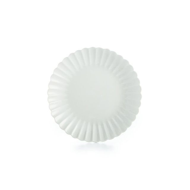 Martha Stewart Collection Whiteware Fleur Dinnerware Collection Salad Plate, Only at Macy's