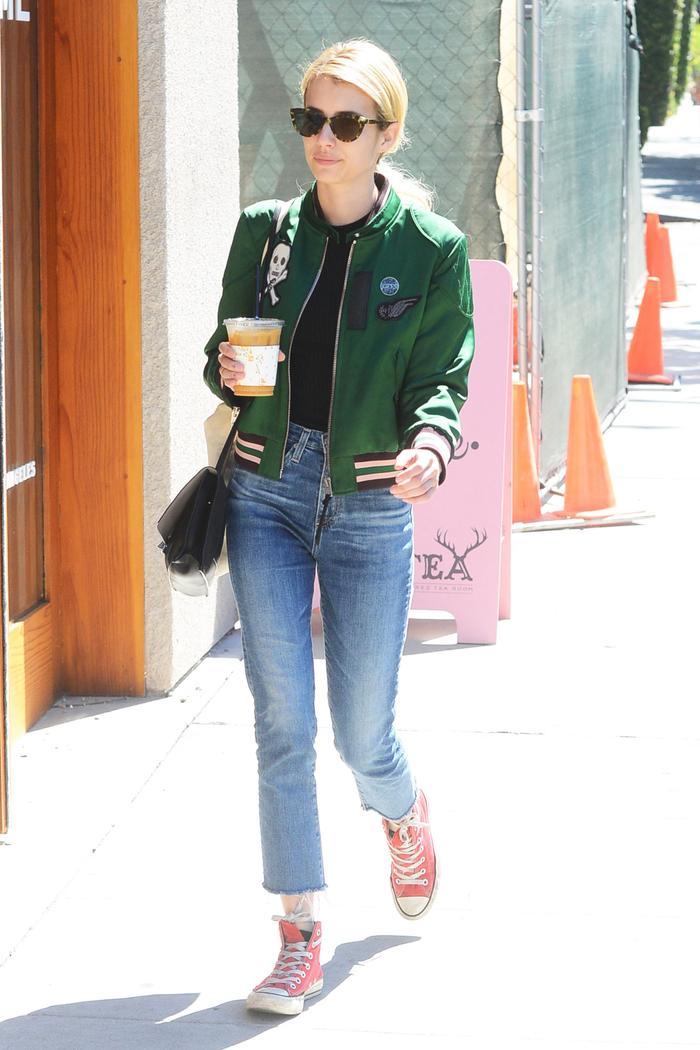Emma Roberts Coach Varsity Jacket