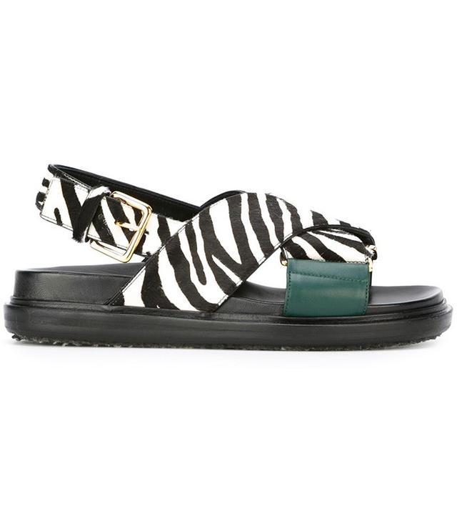 Marni Fussbett Zebra Sandals