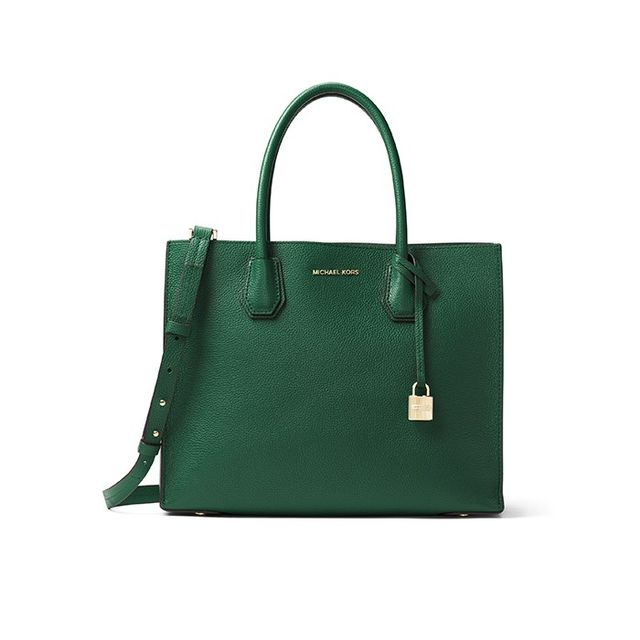 MICHAEL Michael Kors Mercer Large Bonded-Leather Tote