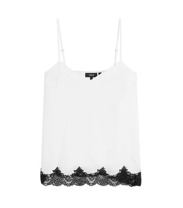 Theory Crepe Camisole With Lace