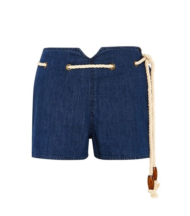 Great Rope-detailed Denim Short