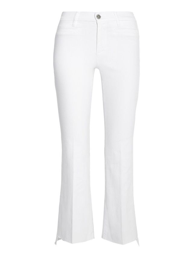 How to Wear White Cropped Jeans for Fall | WhoWhatWear