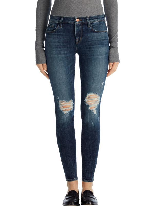 J Brand 620 Mid-Rise Skinny Jean