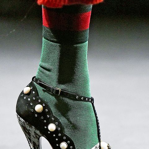 shoe trends autumn/winter 2016: pearl heels from Gucci