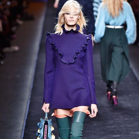 shoe trends autumn/winter 2016: over-the-knee boots at Fendi