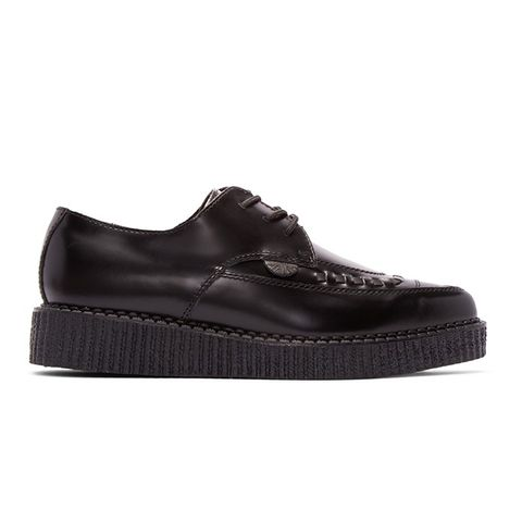 Black Leather Barfly Creepers
