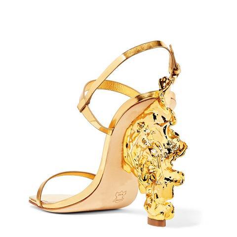 Firenza Metallic Leather Sandals