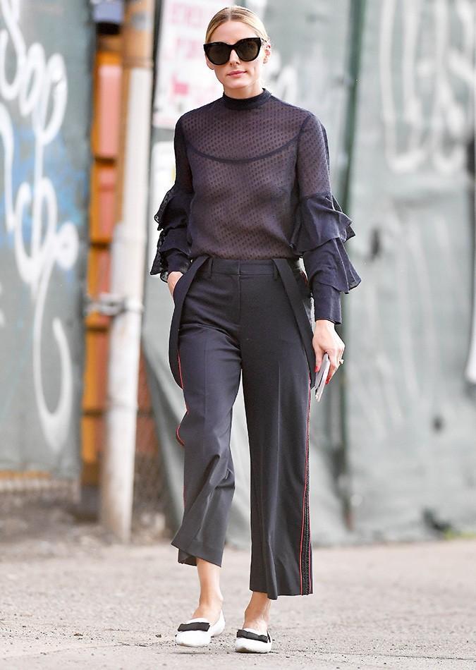 Olivia Palermo sheer top