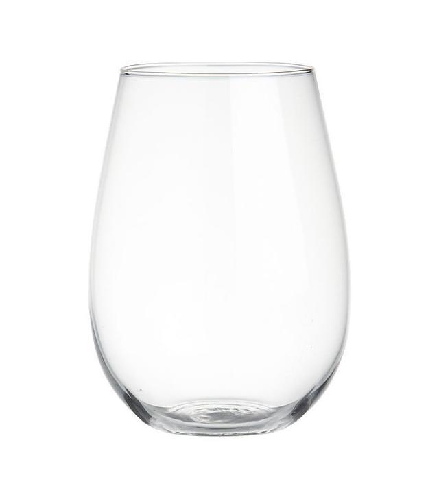 CB2 True Stemless Wine Glass
