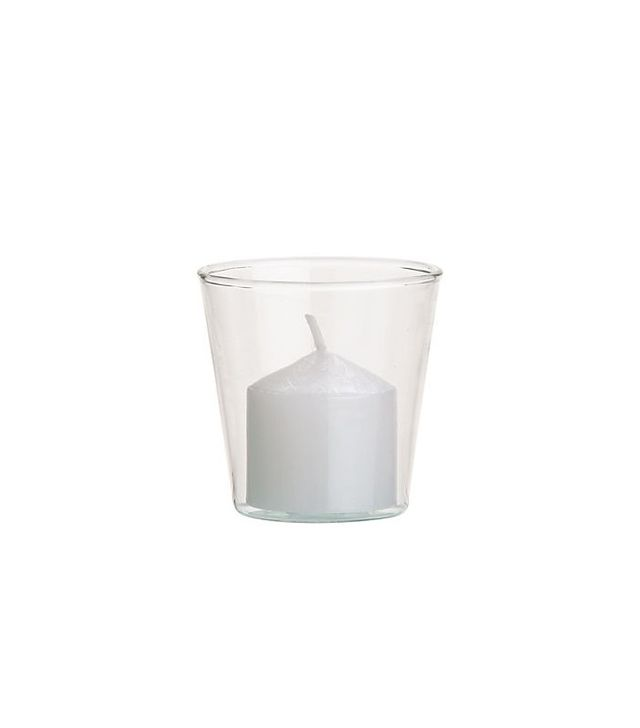 CB2 Beaker Glass Tea Light Candle Holders