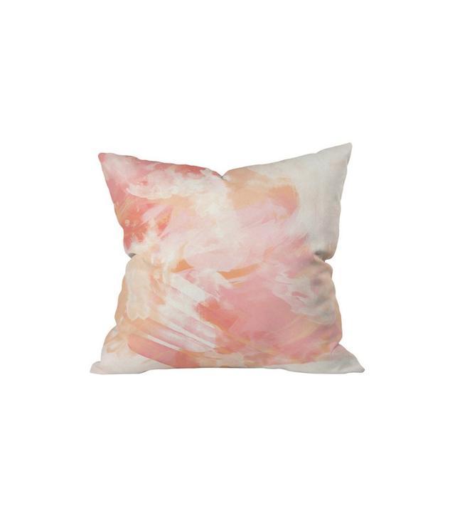 Joss & Main Flamingo Watercolor Indoor/Outdoor Pillow