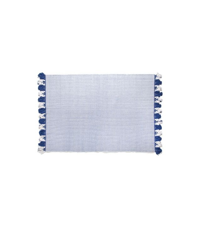 Zara Home Fringed Cotton Jacquard Rug