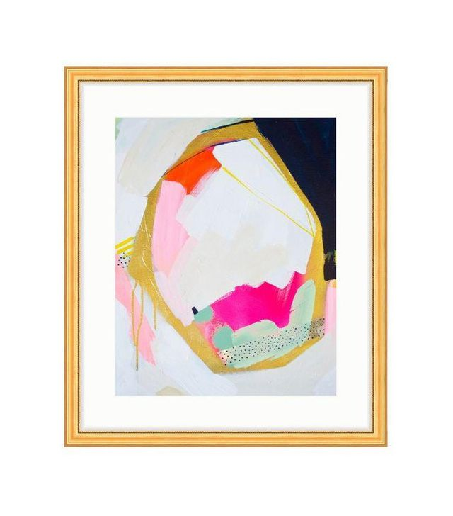 """Navy Geo"" Print in Gold Frame by Britt Bass Turner"