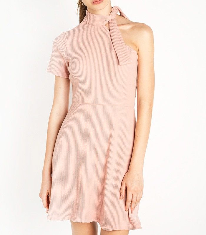 New Revival Sammy One Shoulder Knot Tie Dress