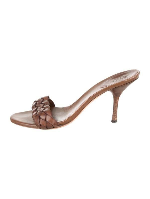 Gucci Woven Slide Sandals