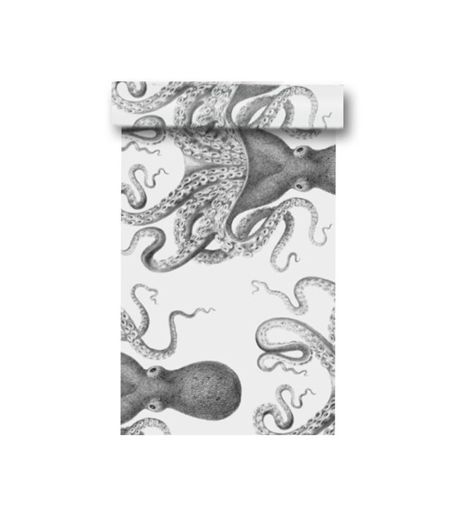 Spoon Flower Octopus Oasis Wallpaper