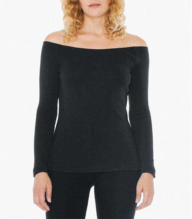 American Apparel 9x1 Rib Carmen Top