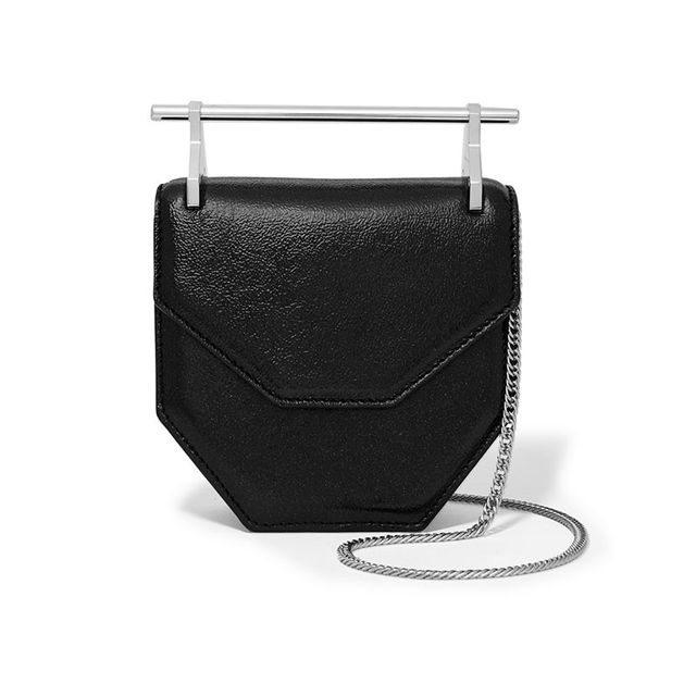 M2 Malletier Amor Fati Mini Glittered Textured-Leather Shoulder Bag