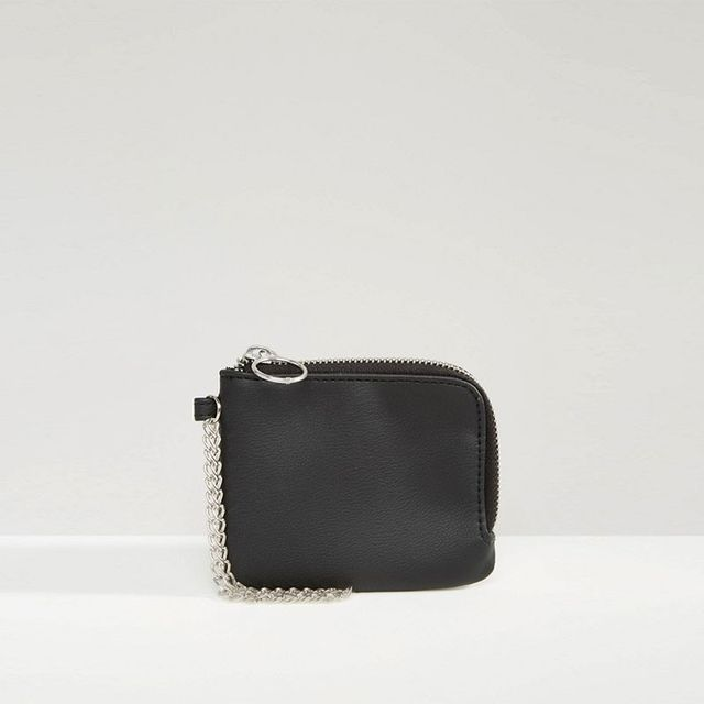 ASOS Zip Around Wallet With Chain