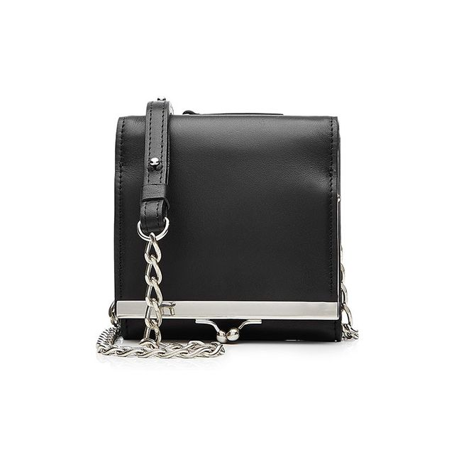 Maison Margiela Leather Wallet With Chain Strap
