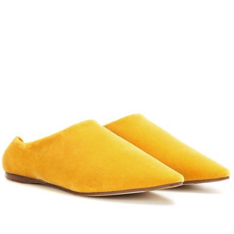 Amina Velvet Babouche Slippers
