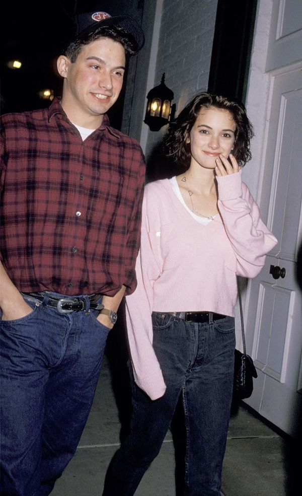 Winona Ryder wearing mom jeans