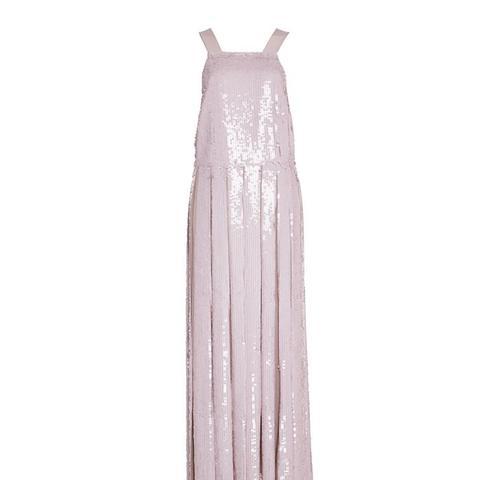 Sequin Silk Dress