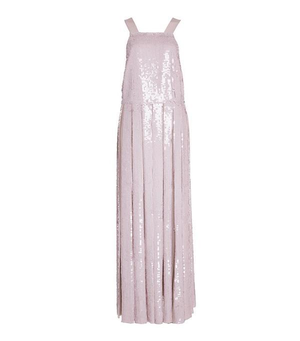 Tibi Sequin Silk Dress