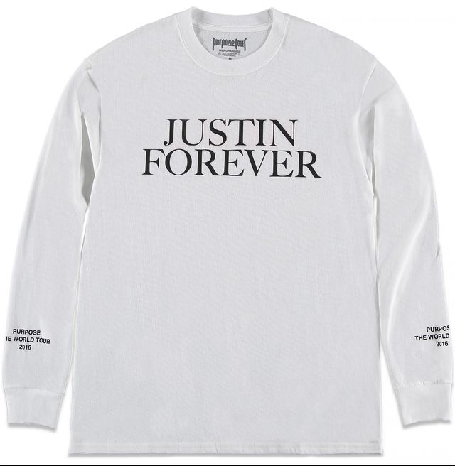 Forever 21 x Justin Bieber Purpose Tour Justin Forever Tee