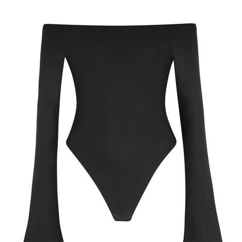Baxter Off-The-Shoulder Stretch-Jersey Bodysuit