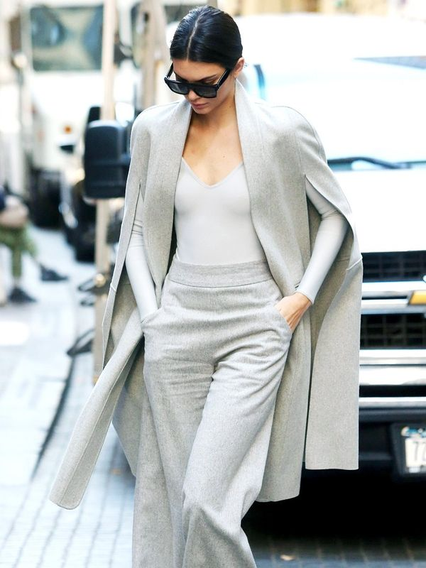 how to wear a body: Kendall Jenner in a grey body