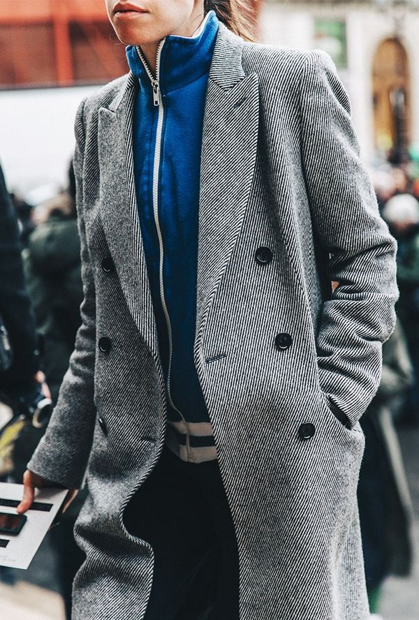 Layer a menswear-inspired coat on top.
