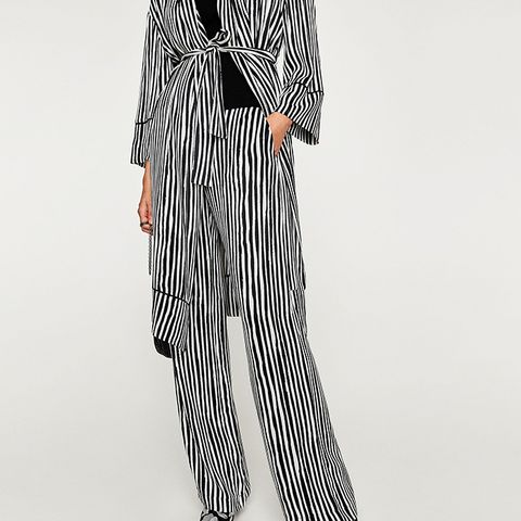 Flowing Striped Trousers