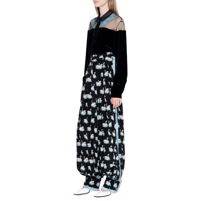 Stella McCartney Swan Print Rosetta Trousers