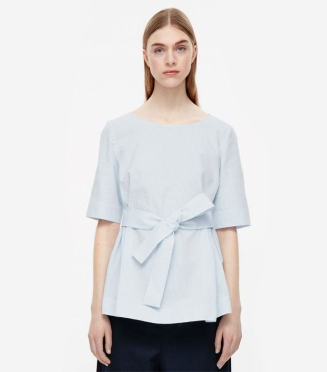 Cos Striped Top With Belt