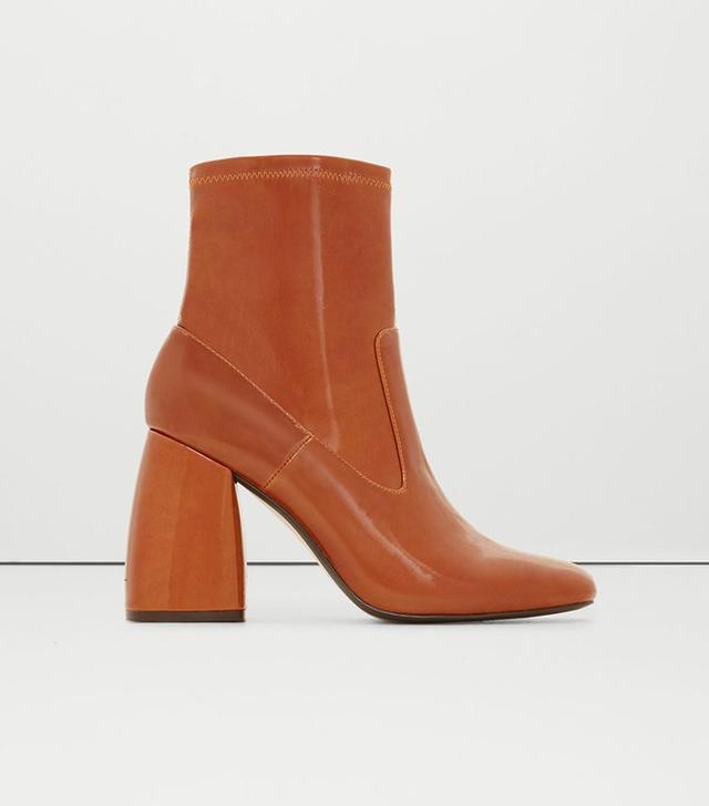Mango Patent Sock Boots
