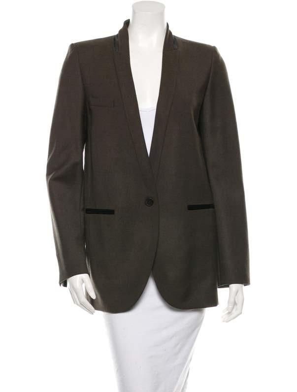 Isabel Marant Collarless Long Sleeve Blazer